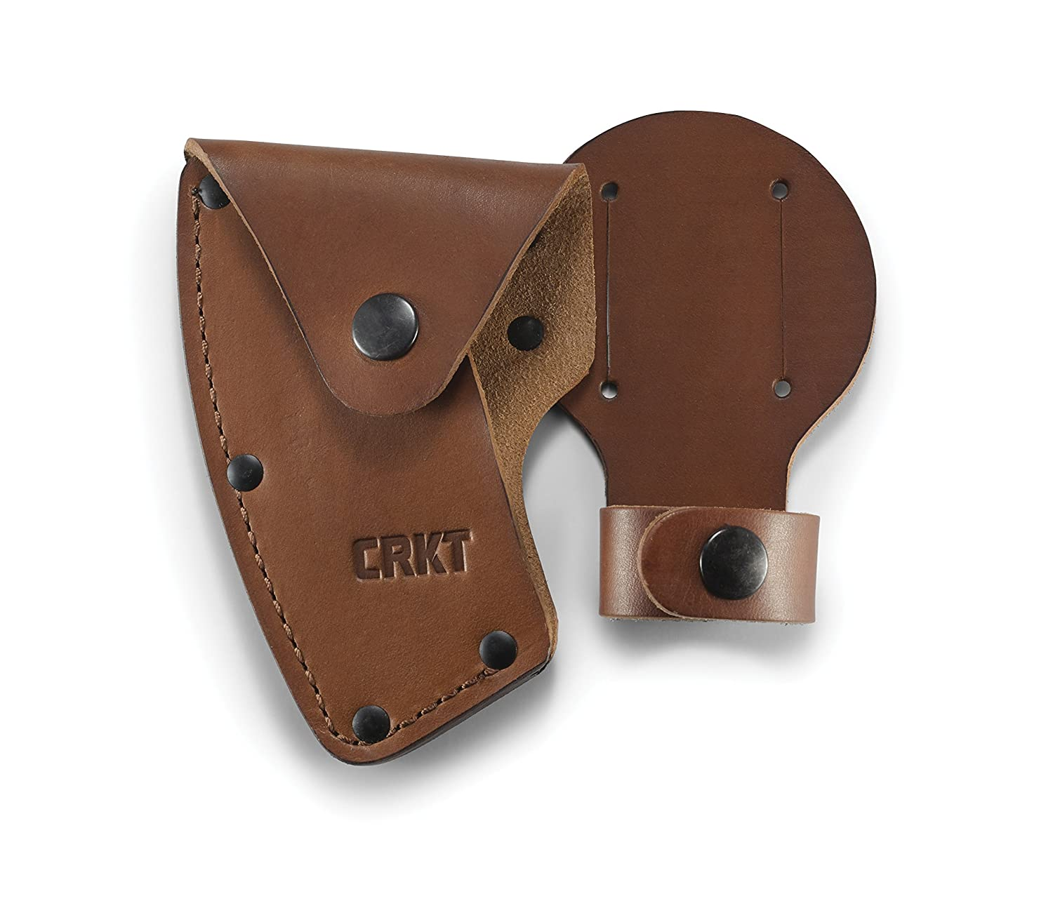 CRKT Freyr Axe Sheath Full Grained Leather Multiple Snaps Belt Loops for Secure Carry of Axe for Use with CRKT 2746 D2746