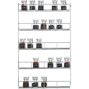 4 Tier Spice Rack   Cabinet Door And Wall Mountable Spice Rack   Herb Rack  Chrome   Kitchen Cupboard ...
