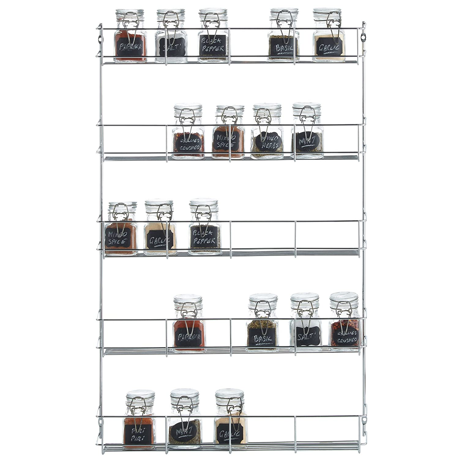 Exceptional VonShef   5 Tier Spice Rack Chrome Plated (Easy Fix) For Herbs And Spices