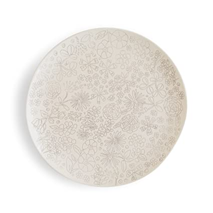 Dorotea 5215281 Hand Painted Dinner Plate 10.75-Inch Set of 4 White  sc 1 st  Amazon.com & Amazon.com: Dorotea 5215281 Hand Painted Dinner Plate 10.75-Inch ...
