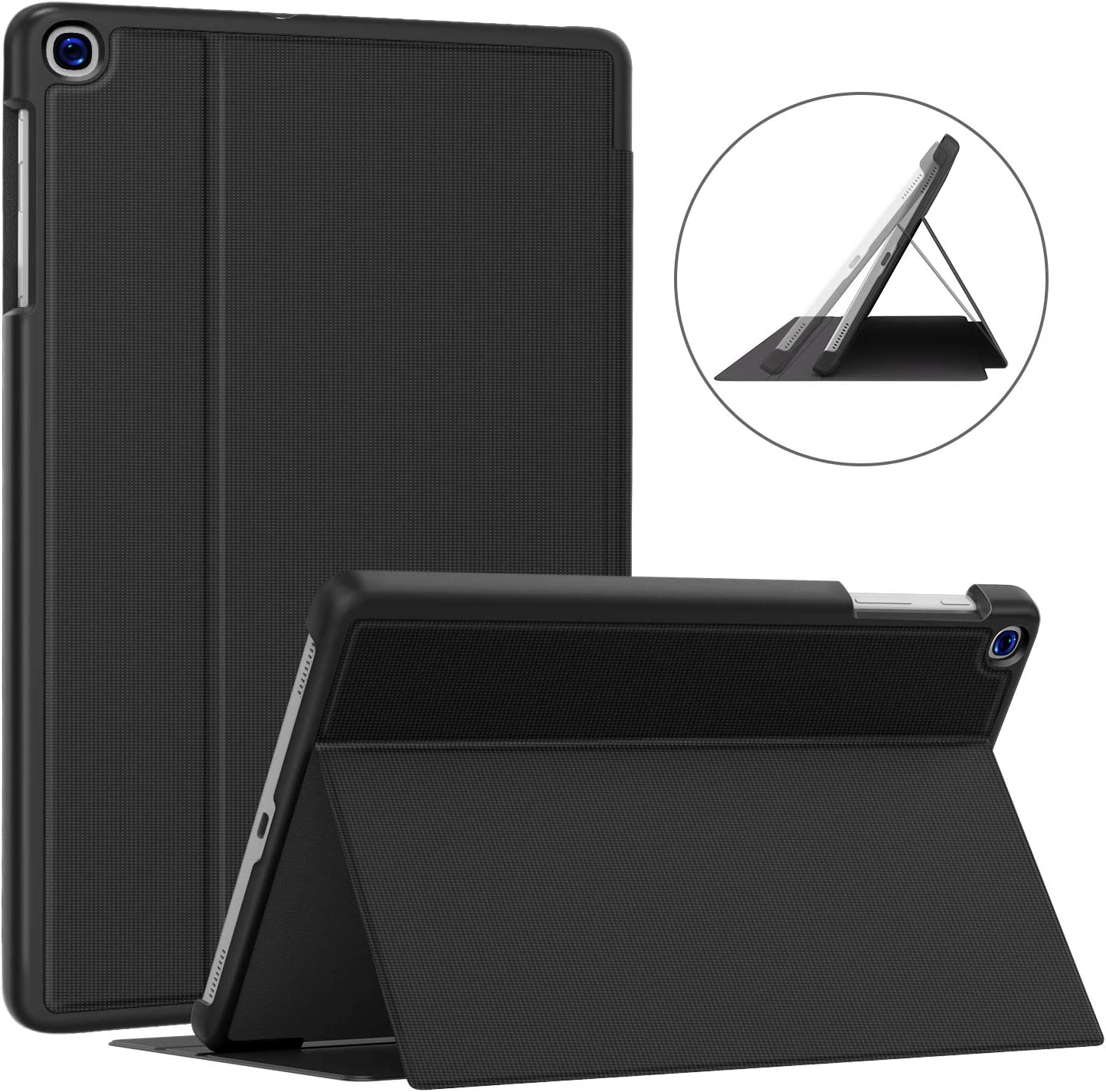 Soke Galaxy Tab A 10.1 Case 2019, Premium Shock Proof Stand Folio Case, Multi- Viewing Angles, Soft TPU Back Cover for Samsung Galaxy Tab A 10.1 inch Tablet [SM-T510/T515],Black