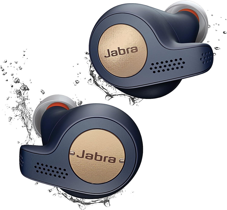 Jabra Elite Active 65t Alexa Enabled True Wireless Sports Earbuds with Charging Case (Renewed) (Navy)