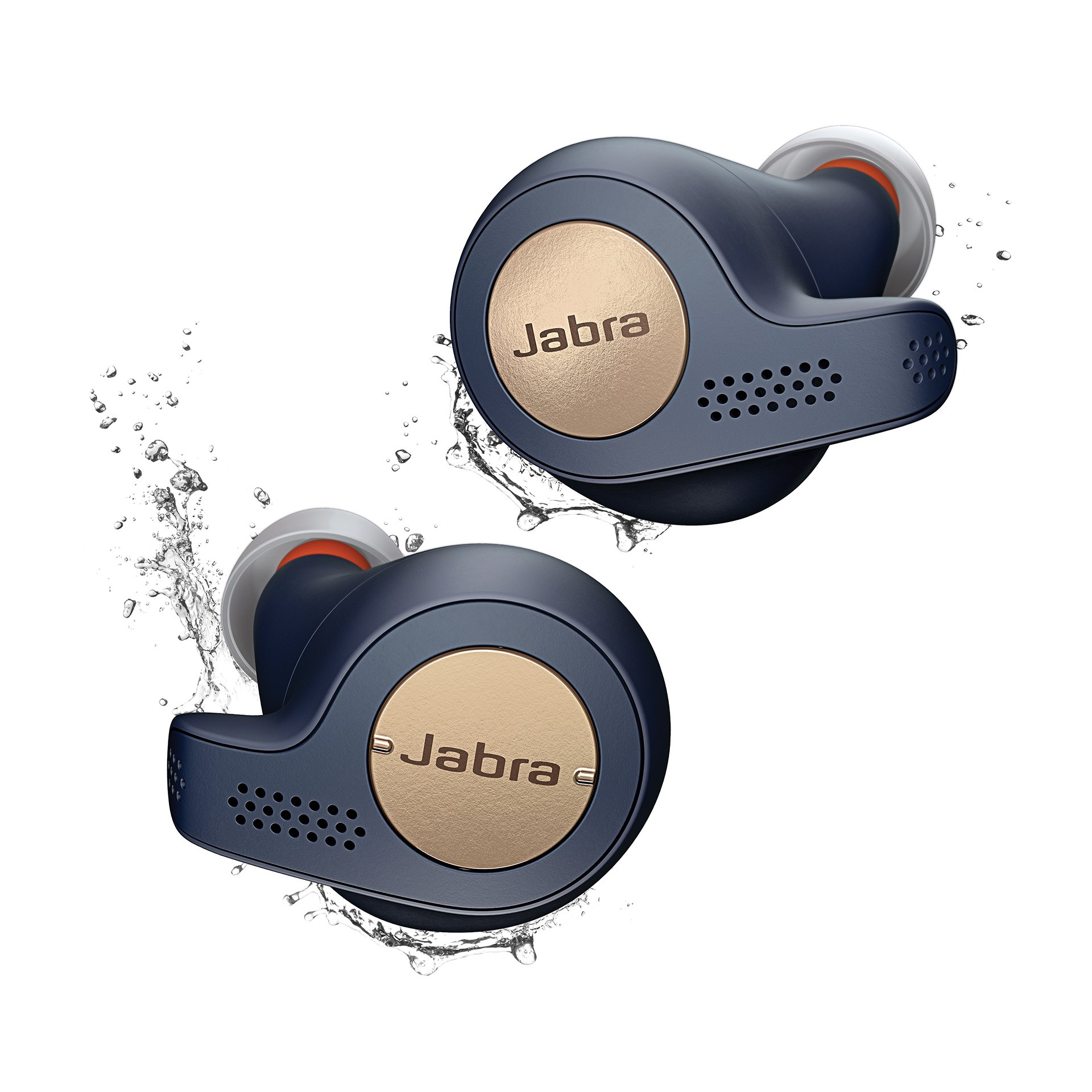 Jabra Elite Active 65t Earbuds - True Wireless Earbuds with Charging Case, Copper Blue - Bluetooth Earbuds with a Secure Fit and Superior Sound, Long Battery Life and More by Jabra