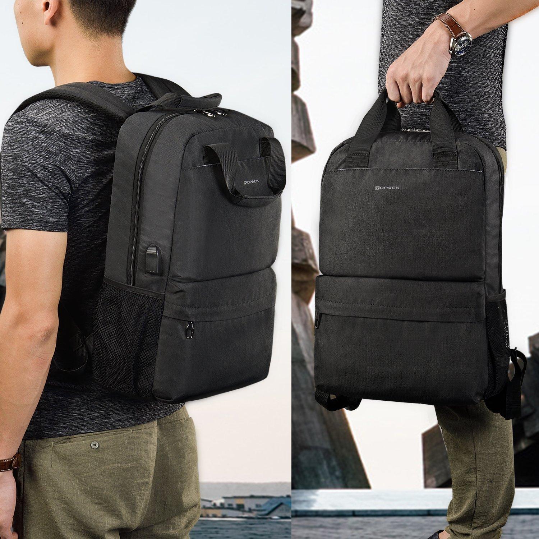Kopack College Backpack W Usb Charging Port Lightweight Slim Laptop Bag For Business Travel 15 15.6 IN KP677 by kopack (Image #6)