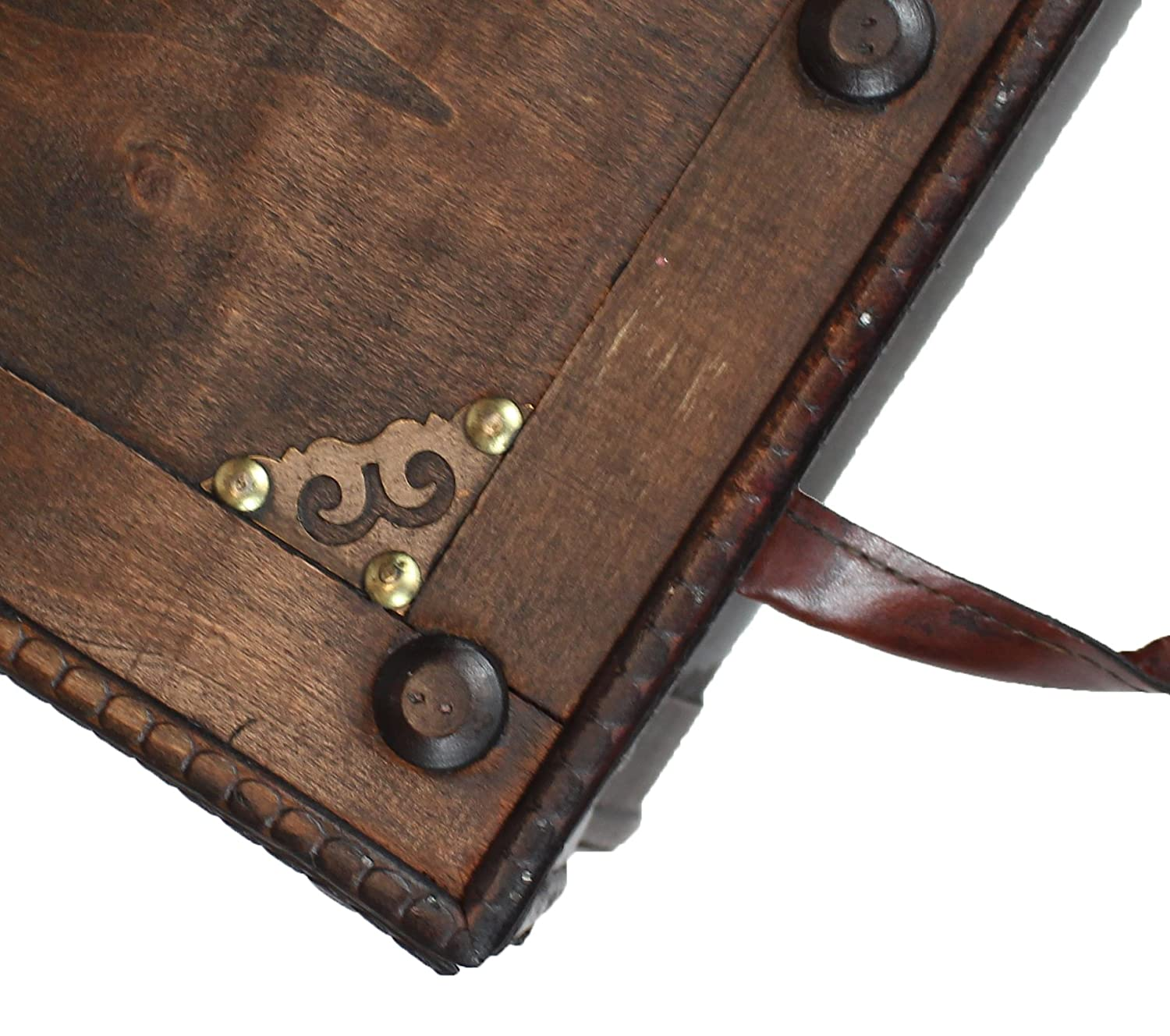 Amazon Antique Style Distressed Wooden Pirate Treasure Chest
