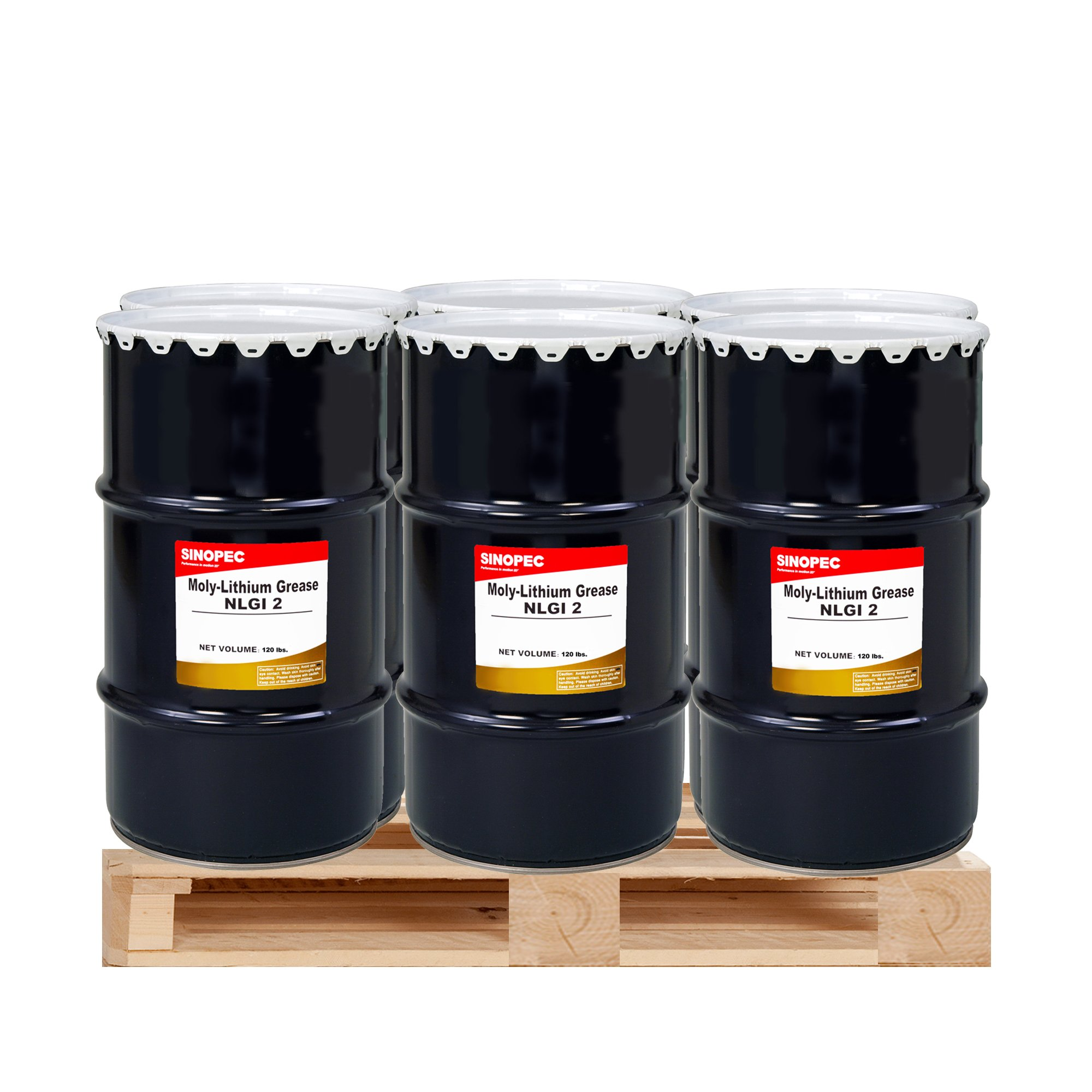 $225 Each- (6) Kegs Moly Extreme Pressure Lithium Grease #2 - 120LB. (16 Gallon)