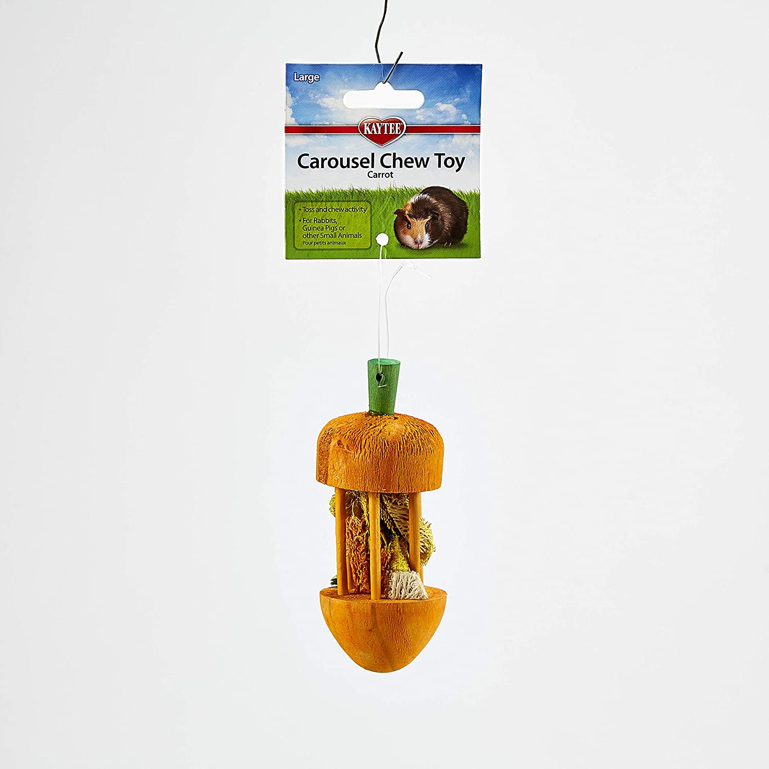 Kaytee Carousel Chew Toy Carrot, Large