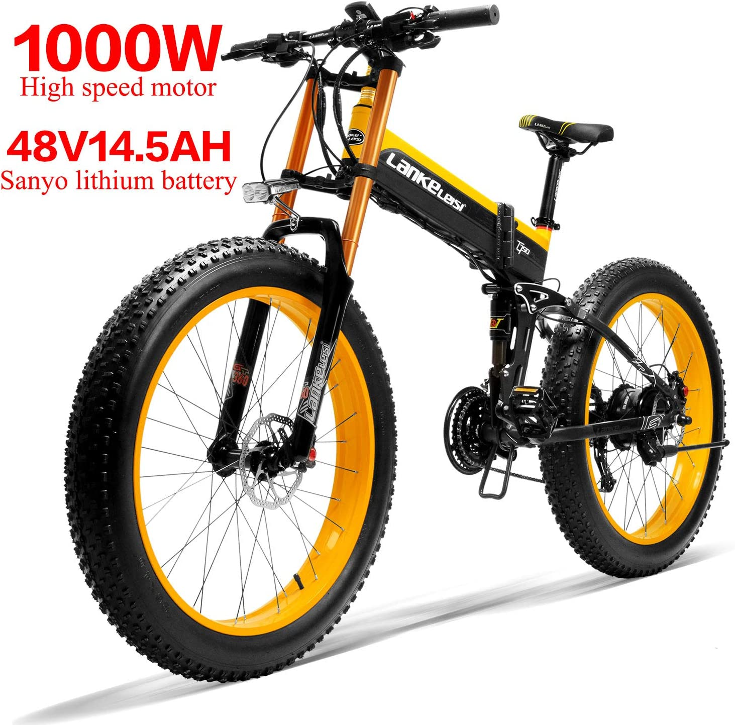 LANKELEISI 750PLUS 48V14.5AH 1000W Motor Bicicleta eléctrica con ...