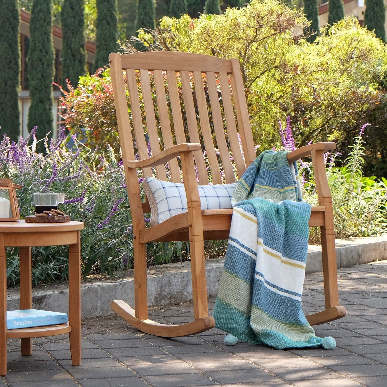 Cambridge-Casual AMZ-130574T Arie Teak Rocking Chair, Natural