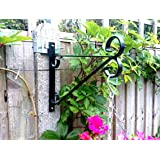 """POSTFIX PF10 - Pack of 2 - Fix your OWN Hanging Basket Brackets to 4"""" x 4"""" Slotted Concrete Fence Posts NO DRILLING!"""