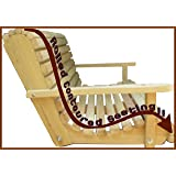 5 Five Feet Ft Made in the USA Cypress Lumber Roll Back Porch Swing with Stainless Steel Hardware Made From Rot-resistant Cypress Eternal Wood