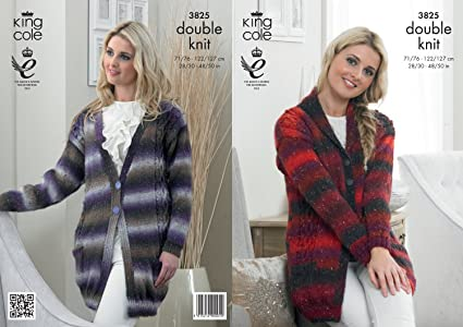Amazon King Cole Ladies Jackets Country Tweed Knitting Pattern