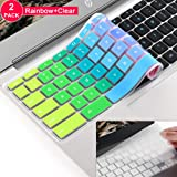 [2 Pack] for ASUS Chromebook 11.6 13.3 Keyboard Cover Skin,ASUS Chromebook 13 Keyboard Protector Skin Cover, ASUS C214MA C213SA,C223 C202SA C200 C200MA C201 C201PA,C300 C300MA C300SA C301(Rainbow)
