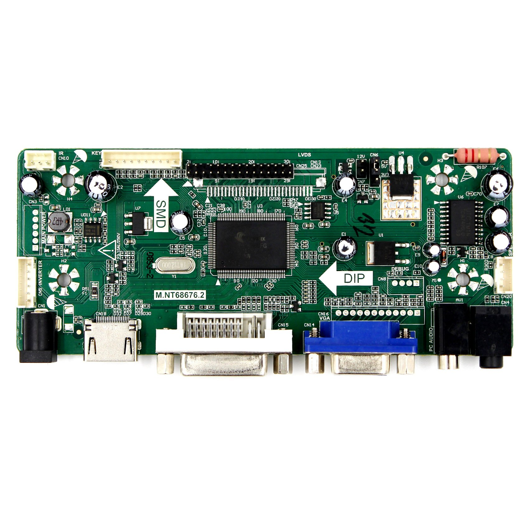 VSDISPLAY HDMI VGA DVI Audio LCD Driver Board for 11.6'' 13.3'' 14'' 15.6'' 1920x1080 N116HSE N133HSE B140HAN01.2 B156HAN01.2 30Pin edp LCD Screen by VSDISPLAY (Image #2)