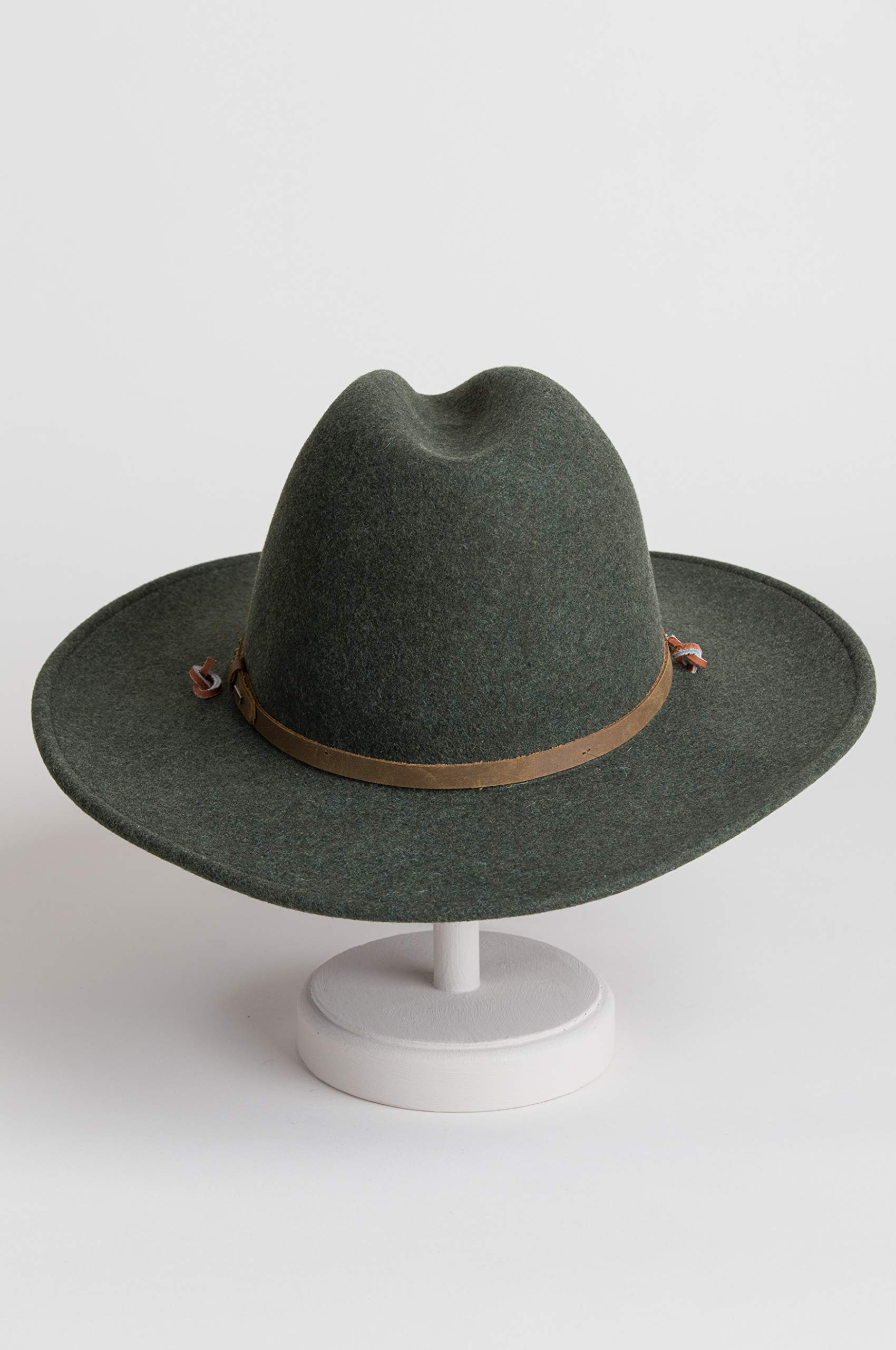 Men's Lonesome Trail Crushable Wool Stetson Hat, OLIVE MIX, Size SMALL by Stetson (Image #6)