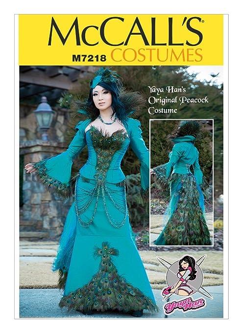 McCalls 7218 patrón para Yaya Han Original disfraz de pavo real ...