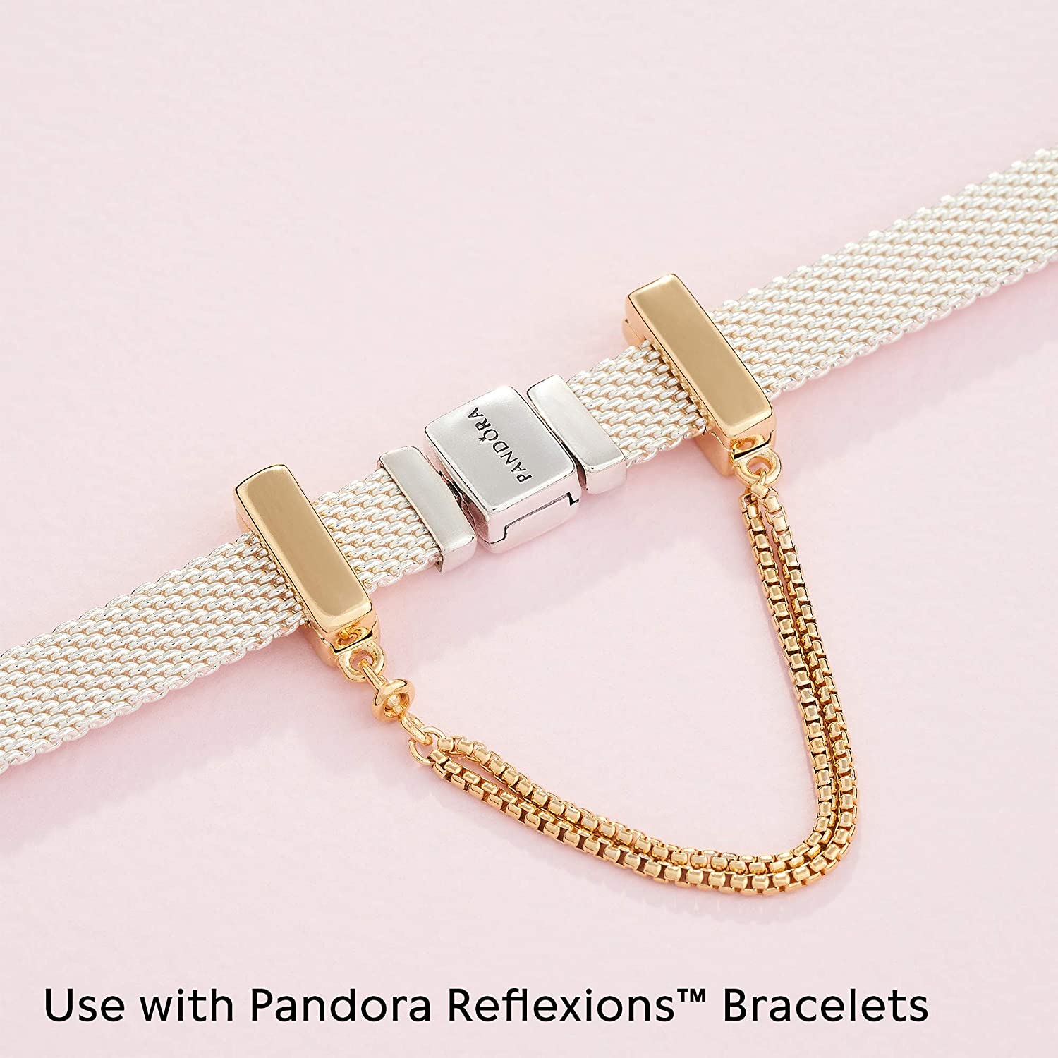 Shine Reflexions Floating Chains Charm in 18K gold-plated Sterling Silver ONLY Compatible Reflexions Bracelet