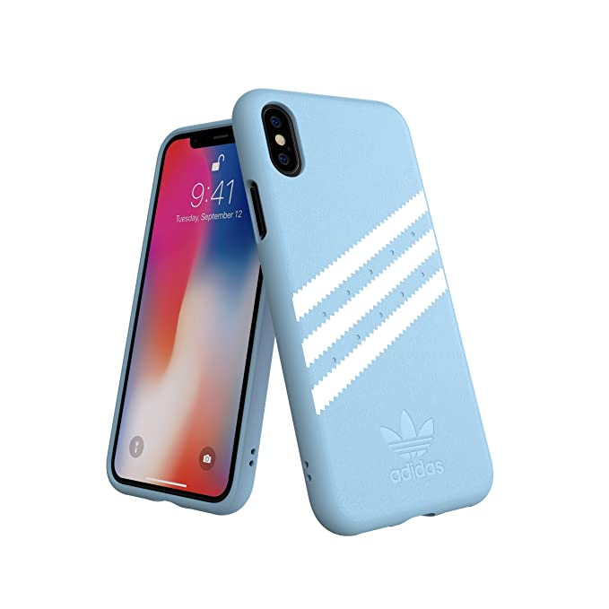 timeless design a21e1 38cc8 adidas Originals Moulded Case Compatible with iPhone X/XS - Blue