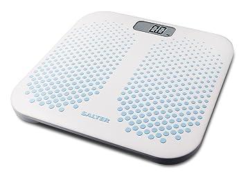 Salter báscula de baño con plataforma antideslizante, capacidad 200 KG, blanco: Amazon.es: Salud y cuidado personal