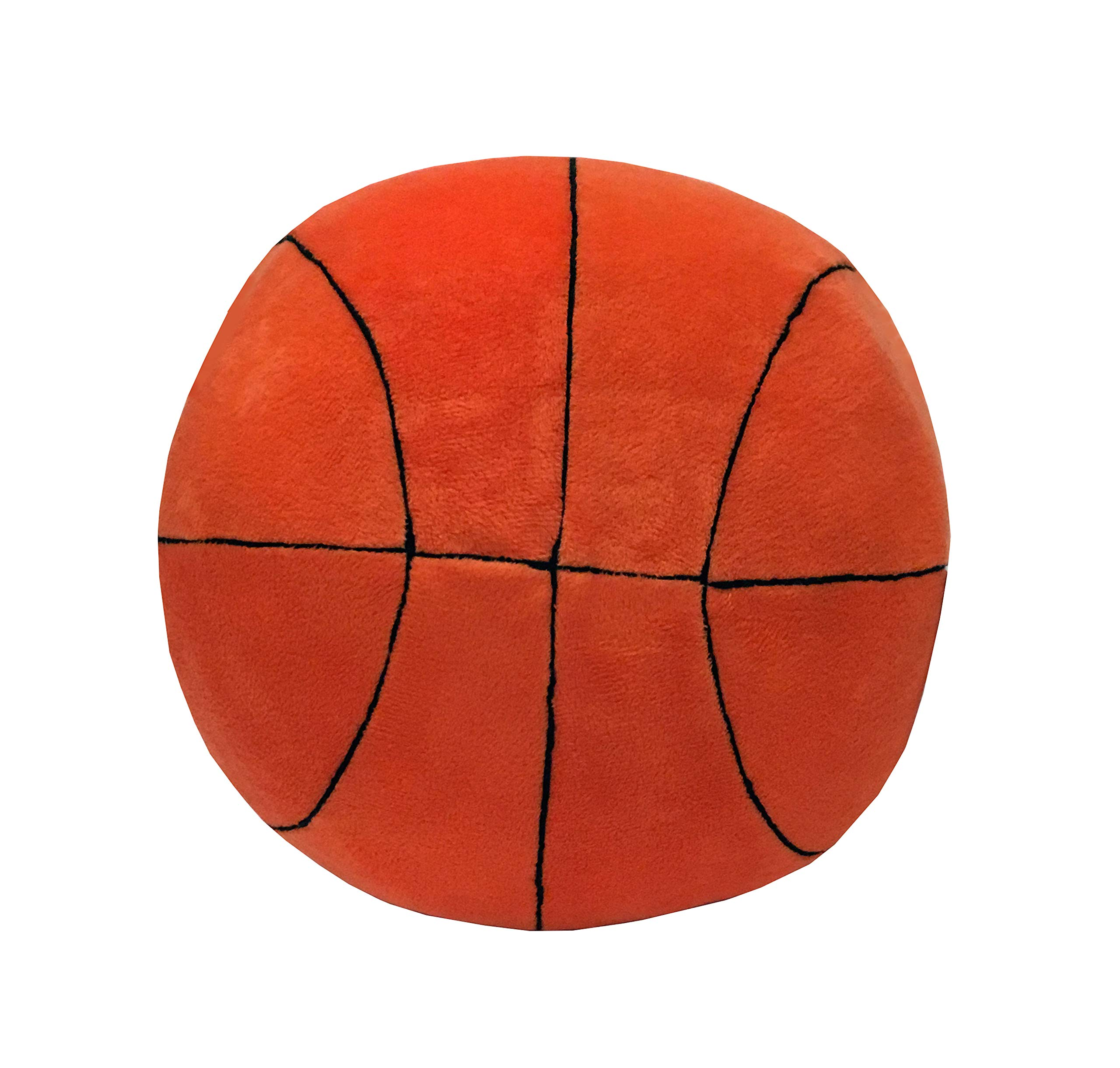 Simple Brilliance Basketball Pillow 11'' Round Soft Plush Basketball Sports Pillow Sports Toy Gift