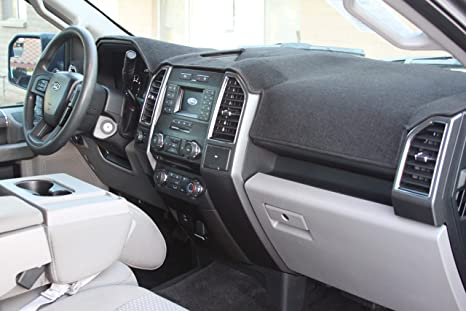 Carpet Dashboard Cover Gray Fits 2015-2017 FORD F-150 Custom Fit Dash Cover