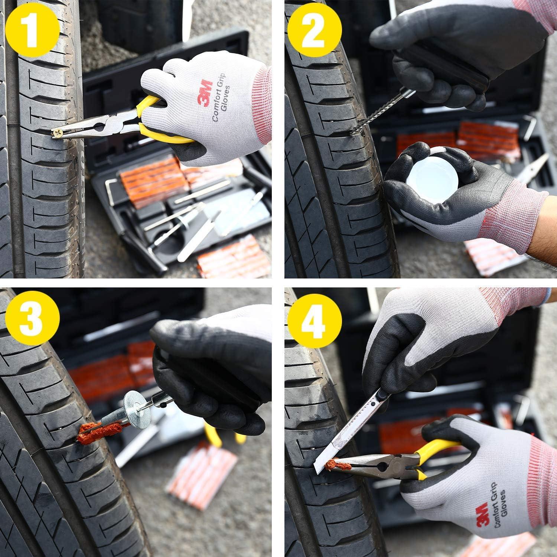 Kit de Reparación de Neumáticos 100pcs, TECCPO Reparación de ...
