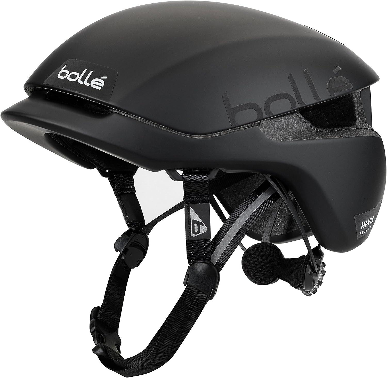 Bollé Erwachsene Messenger Premium Cycling Helmets Hivis Black Matte Medium 54 58 Cm Sport Freizeit