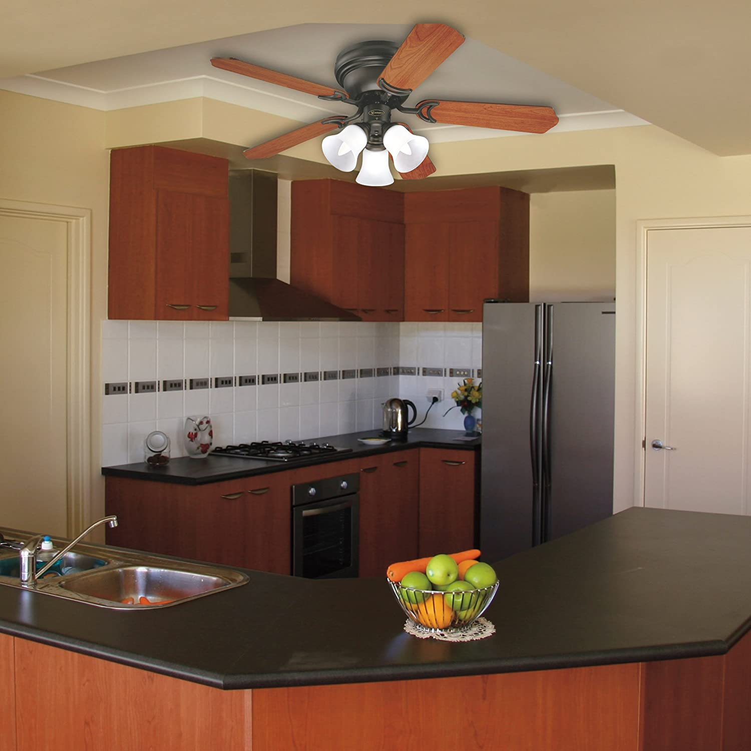 Westinghouse Contempra Trio Three Light 42 Westinghouse Contempra Trio  Three Light 42 From Small Kitchen Ceiling Fans, ...