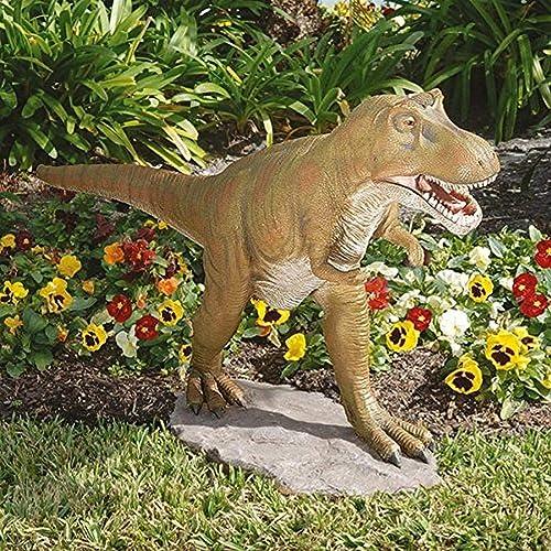 Design Toscano EU7570 T-Rex Dinosaur Garden Statue,full color