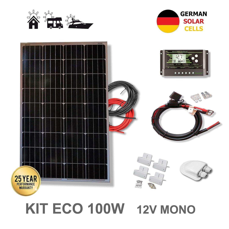VIASOLAR Kit 100W Eco 12V Panel Solar monocristalino células ...