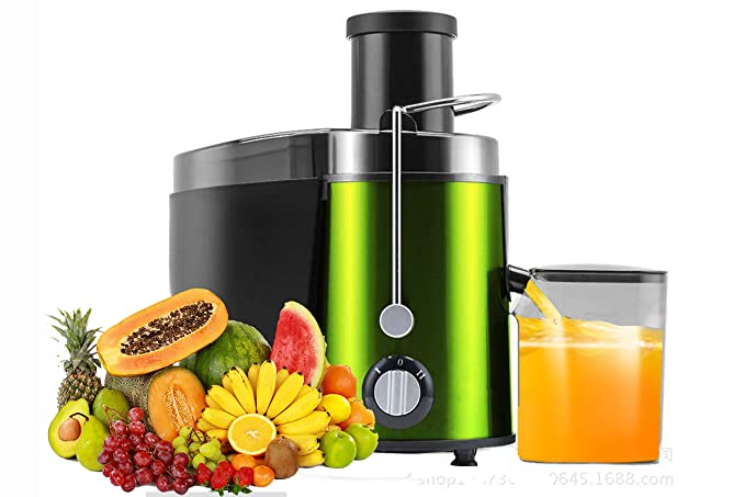 Holove Juicer Centrifugal Juicer Wide Mouth Three Speed Juicer Machine,Non-Slip Feet BPA Free Stainless Steel Juice Extractor for Fruits and Vegetable
