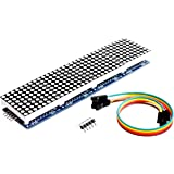 Wangdd22 MAX7219 Dot Matrix Module For Arduino Microcontroller 4 In 1 Display with 5pin Line