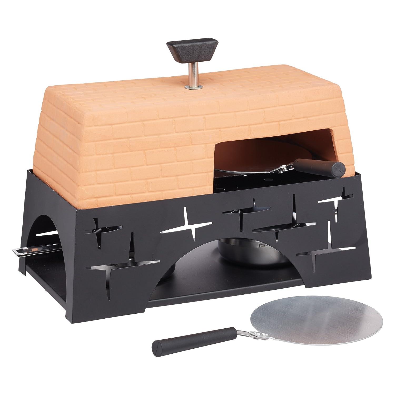 Artesà Terracotta Mini Table-Top Pizza Oven, 28 x 15.5 x 22 cm (11