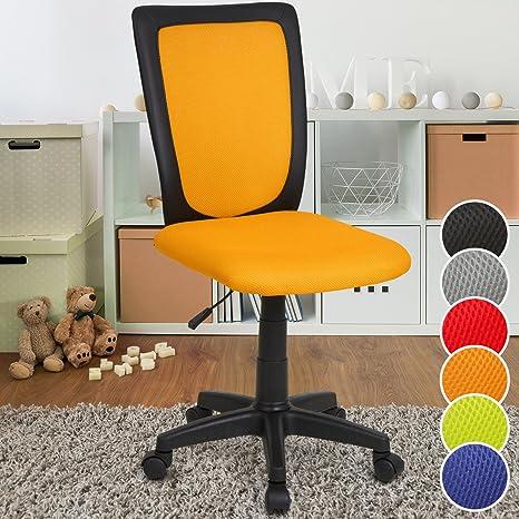 Infantastic Kinderdrehstuhl Kinderschreibtischstuhl Bürostuhl in Schwarz/in Grau/in Blau/in Grün/in Rot/in Orange (Orange)