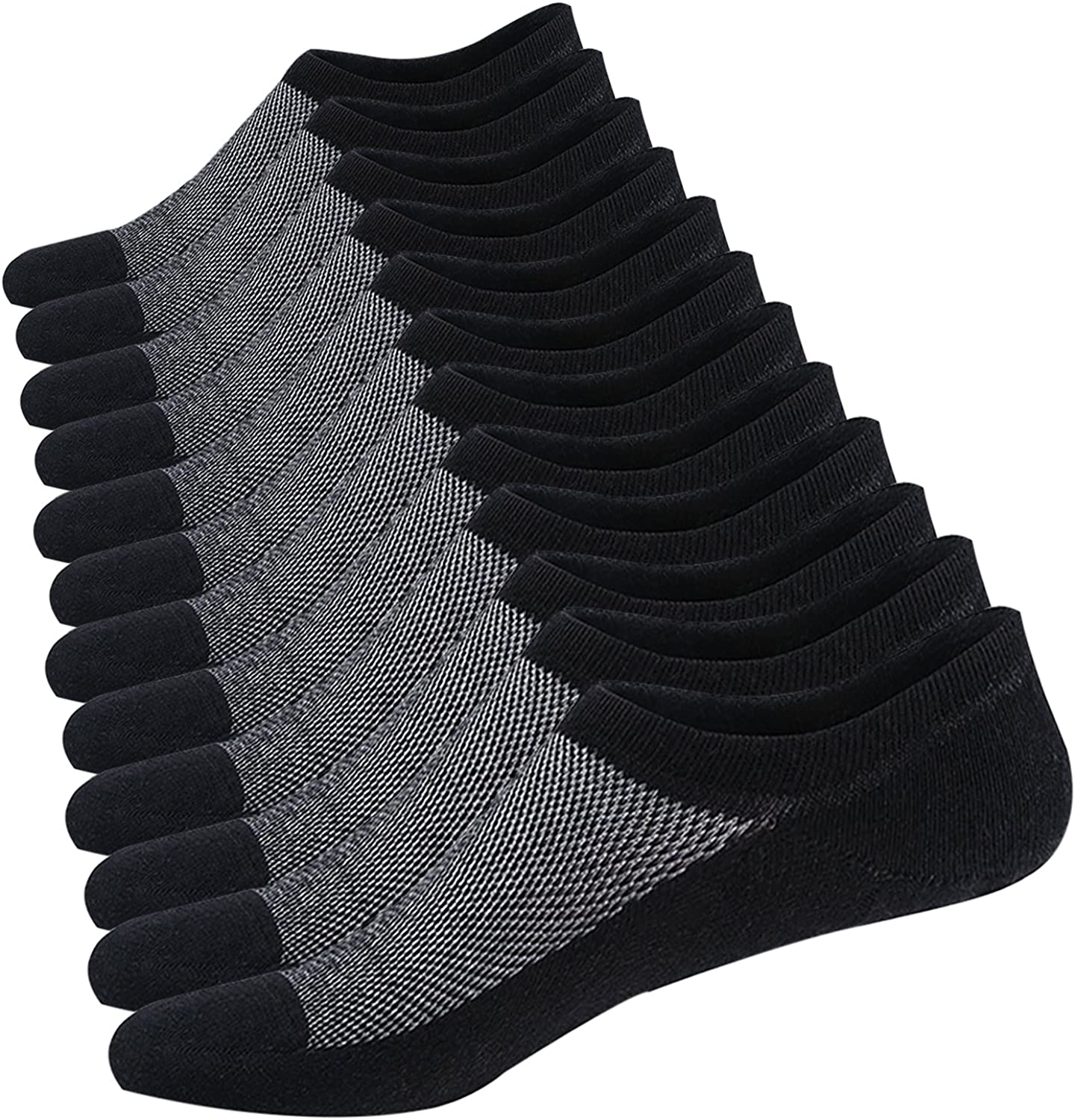 Ueither Calcetines Cortos Hombre Invisibles Respirable Calcetines ...