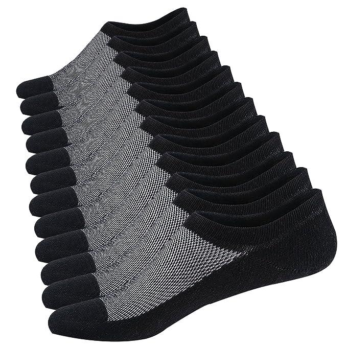 Ueither Calcetines de hombre antideslizantes de algod/ón de corte bajo