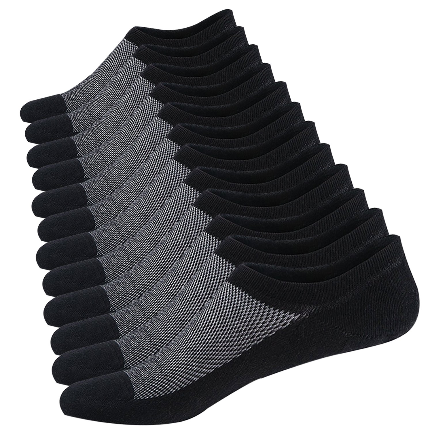 Ueither Calcetines Cortos Hombre Invisibles Respirable Calcetines tobilleros Algodón Antideslizantes product image