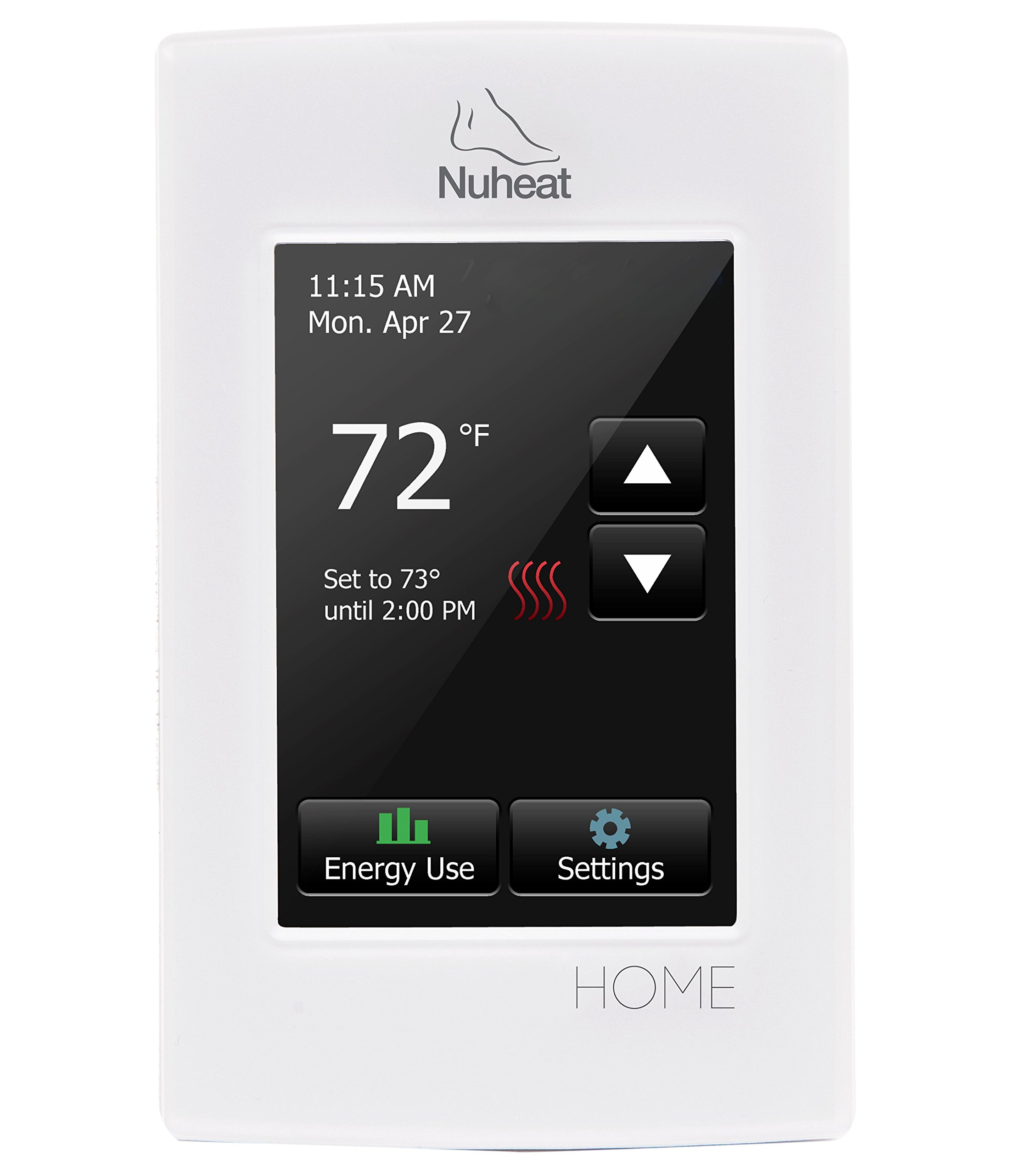 Best Rated In Home Thermostats Accessories Helpful Customer Mercury Thermostat Wiring Oil Furnace Nuheat Radiant Floor Heating Dual Voltage Progamble By