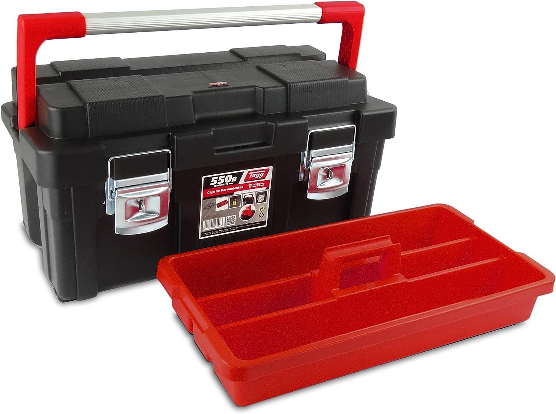 Tayg 170003 Caja de herramientas de plástico-aluminio 550-B, negro ...