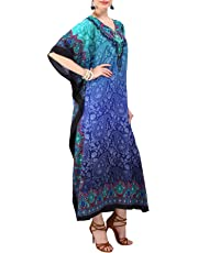 Miss Lavish London Women Kaftan Tunic Kimono Free Size Long Maxi Party Dress for Loungewear Holidays Nightwear Beach Everyday Cover Up Dresses #101