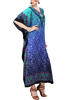 Miss Lavish London Mujeres caftán de Londres túnica Kimono Libre tamaño Largo Vestido de Fiesta para