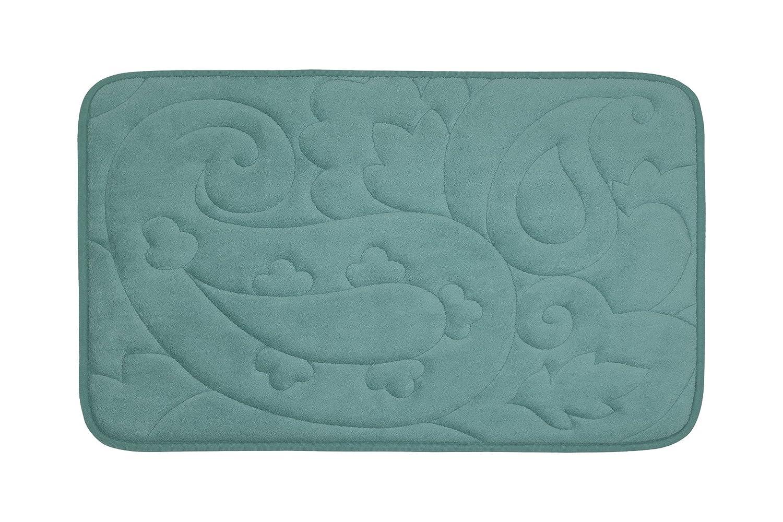 20 by 32 Aqua 20 by 32 Creative Home Ideas YMB003487 Bounce Comfort Pelton Micro Plush Memory Foam Bath Mat
