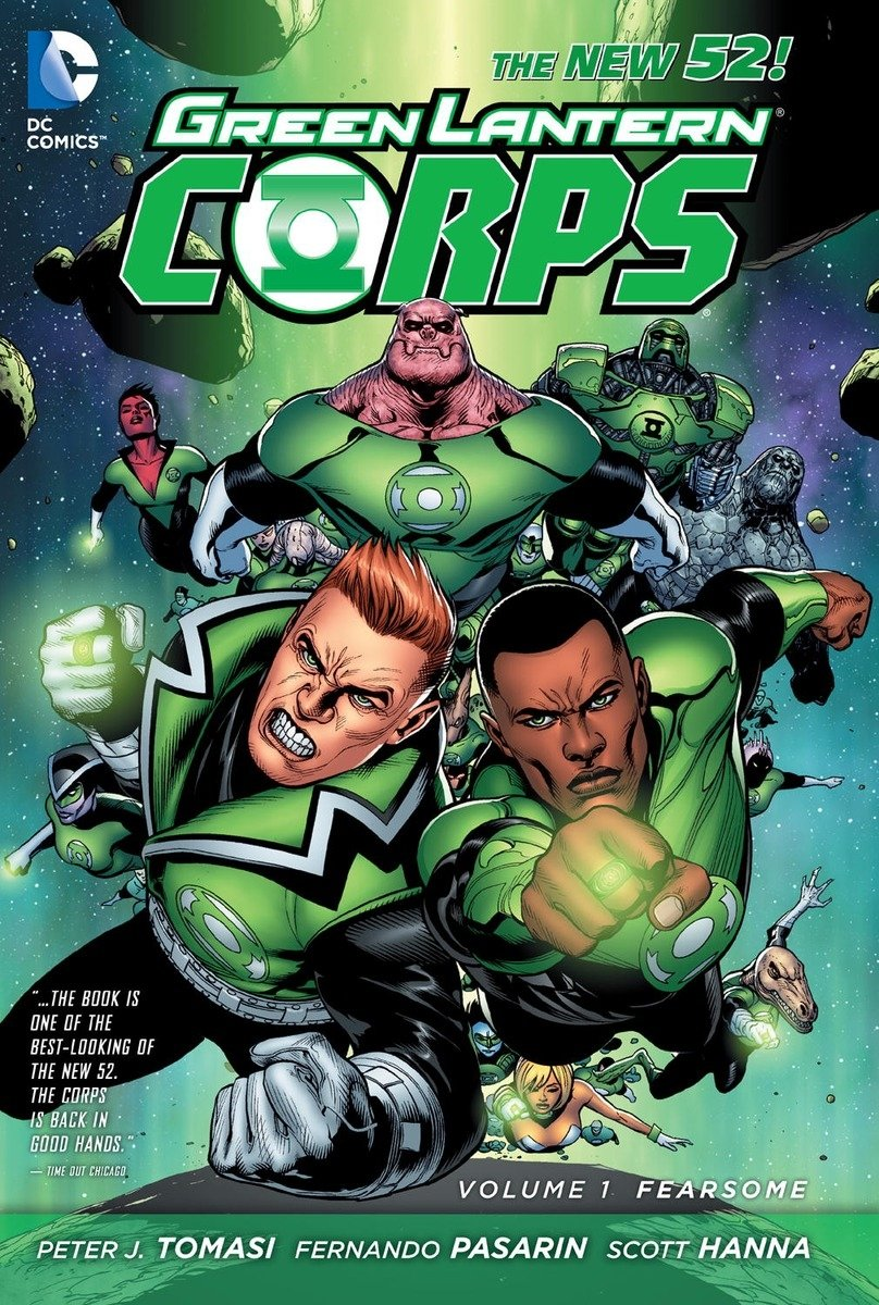 The Green Lantern Corps DC characters