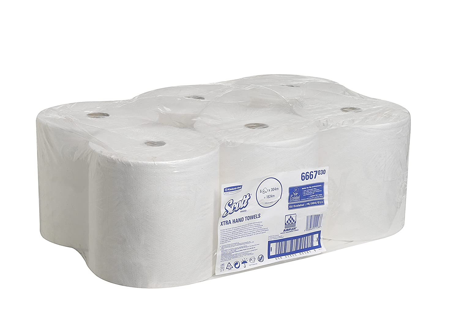 Kimberly-Clark 6667 - Caja 6 recambio toalla en rollo, color blanco Y Dispensador: Amazon.es: Industria, empresas y ciencia
