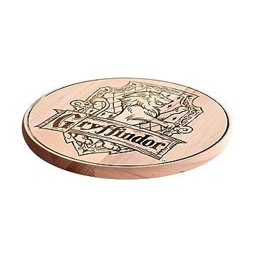 Elbenwald Tabla de cortar de Harry Potter Haya Cresta de Gryffindor Ø31cm Madera de madera de