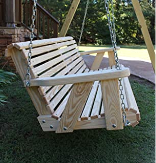 ROLL BACK Amish Heavy Duty 800 Lb 5ft. Porch Swing  Made In USA
