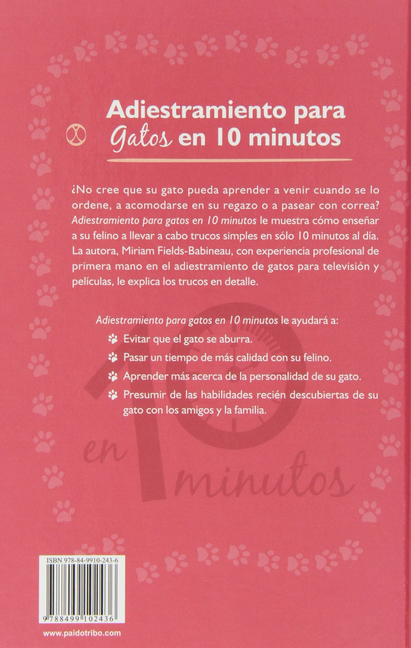 Adiestramiento para gatos en 10 minutos (Spanish Edition): Miriam Fields-Babineau: 9788499102436: Amazon.com: Books