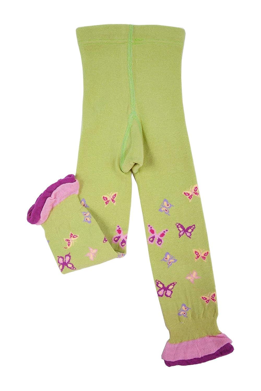 Weri Spezials Capri Leggings con Balze per Neonati e Bambini, Colore:Verde intenso, Taglia: 56-80 cm (0-12 mesi)