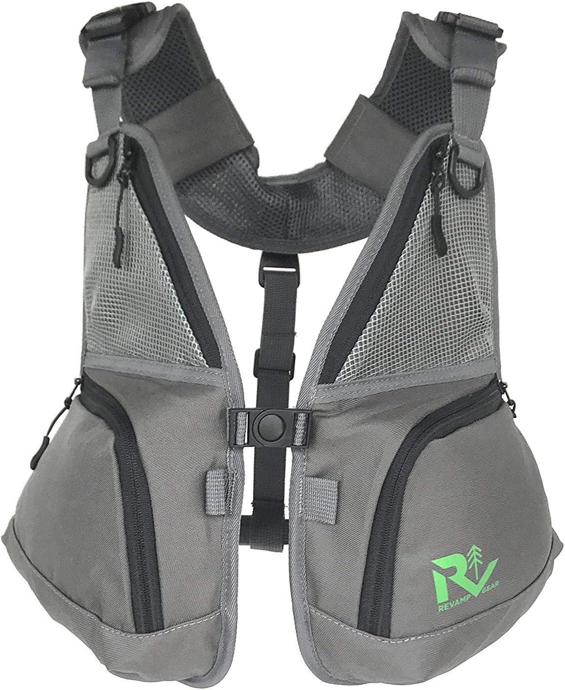 Revamp Gear Pack frontal para llevar solo y emparejamiento con mochilas y mochilas de hidratación. Senderismo, ciclismo, camping, esquí, snowboard o como chaleco de pesca con mosca.: Amazon.es: Hogar