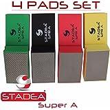 Stadea HPW107K Diamond Hand Polishing Pads - Glass Marble Concrete Stone Hand Polishing, 4 Pads Set